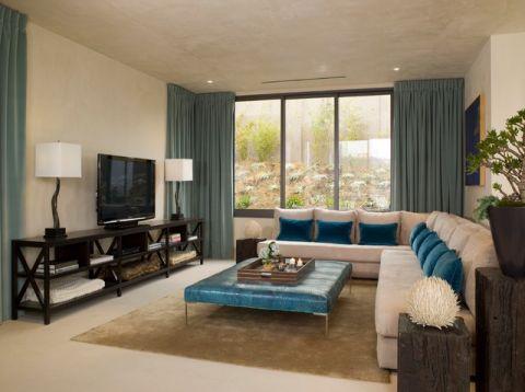 客厅黄色细节现代风格装修设计图片