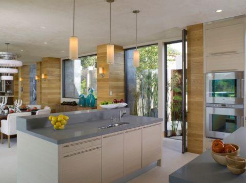 厨房黄色细节现代风格效果图