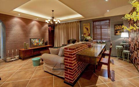 2021中式150平米效果图 2021中式三居室装修设计图片