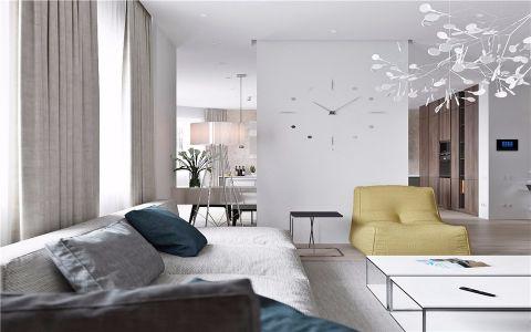 客厅窗台现代简约风格装潢图片