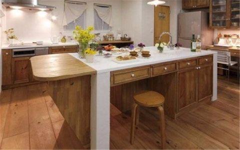 厨房吧台日式风格装饰图片