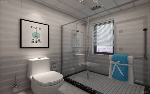 卫生间推拉门现代简约风格装修效果图