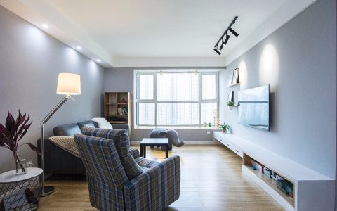 嘉园小区118平北欧风格两室两厅两卫装修效果图