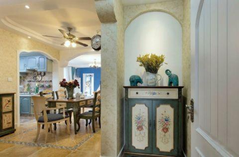 闽江世纪城两室两厅70平地中海风格装修效果图