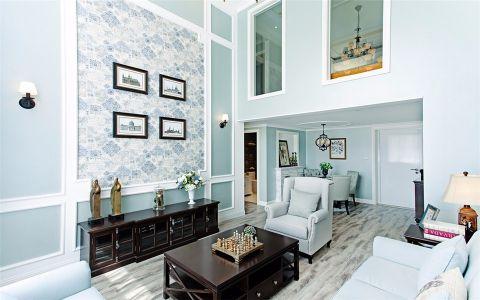 现代欧式风格128平米复式室内装修效果图