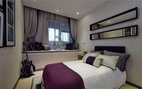 卧室紫色窗台现代简约风格装饰设计图片