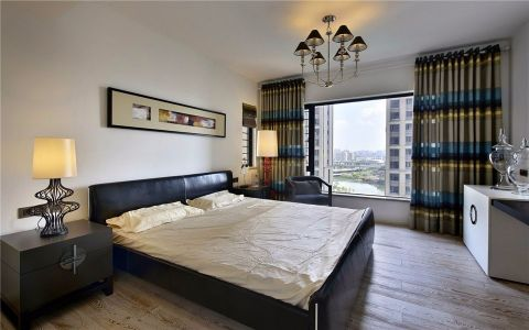 卧室床头柜现代简约风格装修图片