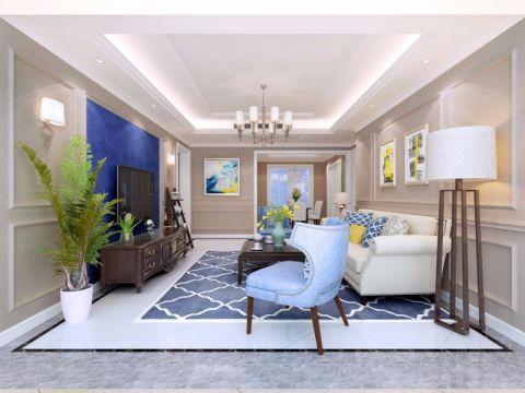 俏业家花千树110平米美式风格三居室设计效果图