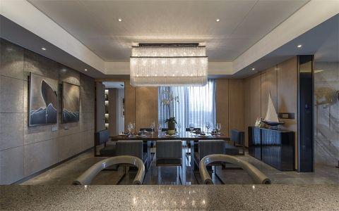 餐厅吊顶现代简约风格装饰效果图