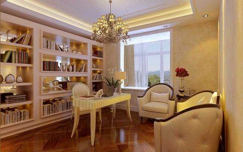 书房吊顶欧式风格装潢效果图