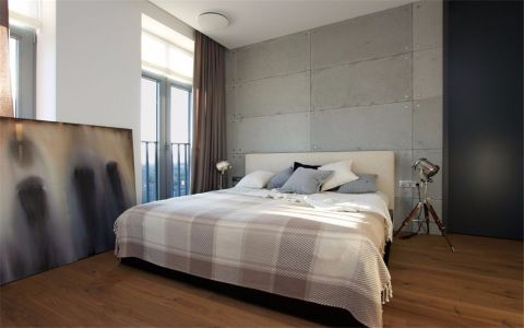 卧室窗帘现代简约风格装潢效果图