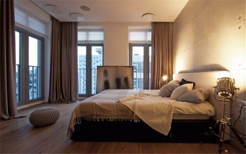 卧室飘窗现代简约风格装饰图片