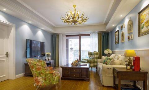 钻石湾158平三居室混搭风格装修效果图