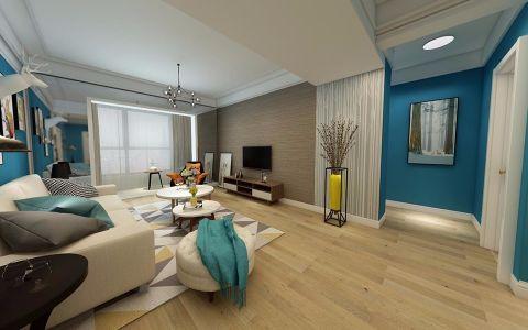 禹洲天境95平现代风格二居室装修效果图