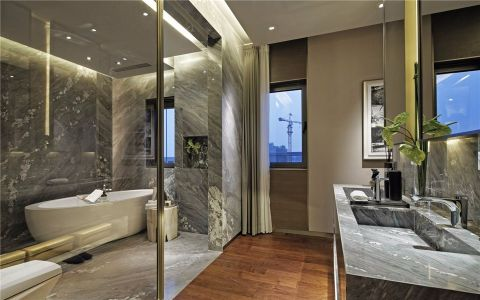 卫生间隐形门现代简约风格装饰效果图