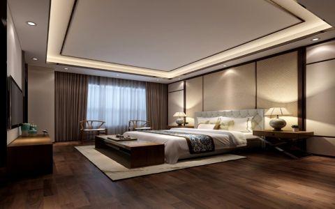 卧室吊顶中式风格装修效果图