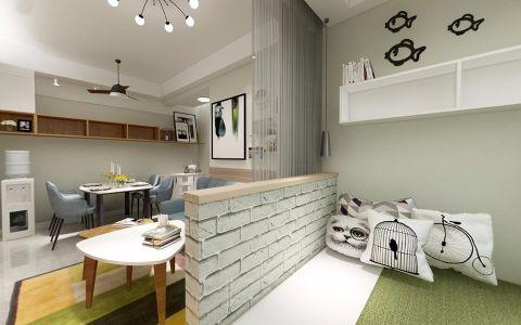 中央美域60平现代风二居室装修效果图