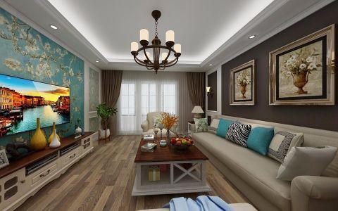 保利香槟国际110平小美风格三居室装修效果图