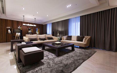 玉兰广场130平混搭风格三居室装修效果图