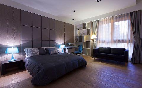 卧室背景墙混搭风格装饰效果图