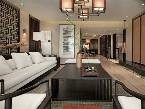 客厅吊顶新中式风格装潢图片