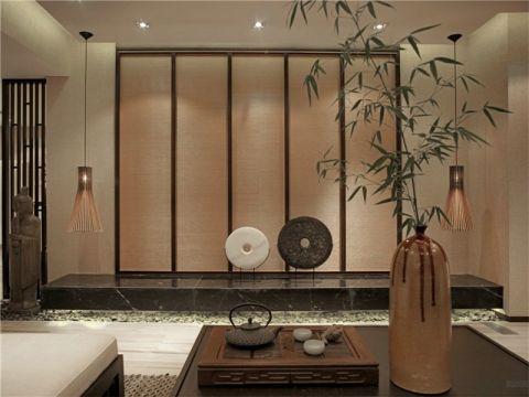 客厅门厅新中式风格装潢效果图