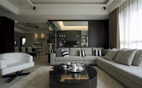 万科城140平现代风格三居室装修效果图
