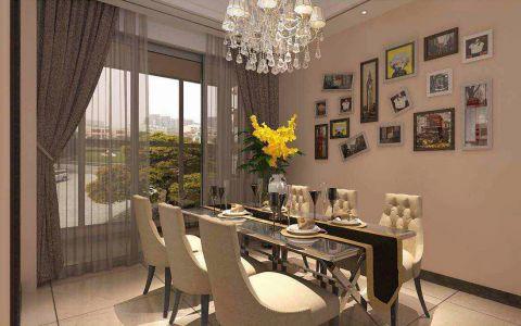 餐厅照片墙美式风格装修图片