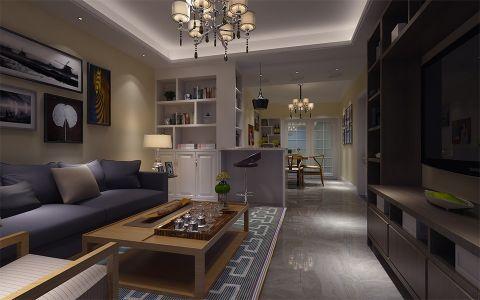 安粮城市广场92平米现代简约两室装修效果图