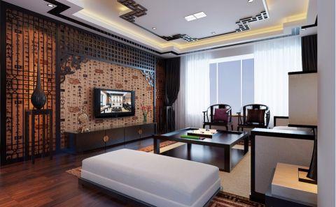 客厅背景墙新古典风格装潢设计图片