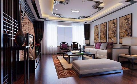客厅吊顶新古典风格效果图