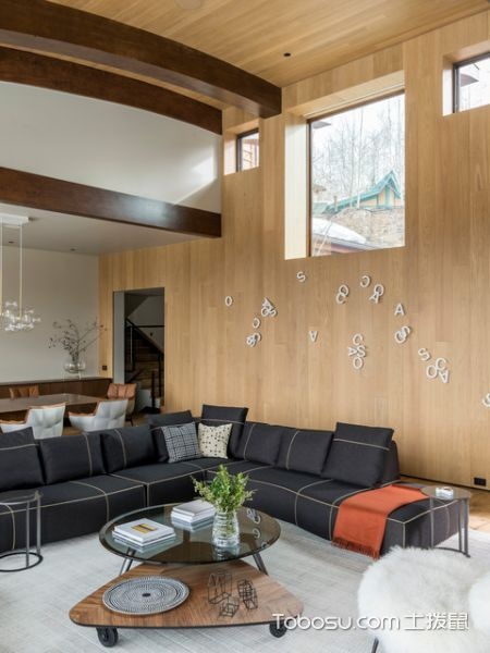 奢华现代风格客厅装修效果图_土拨鼠2017装修图片大全