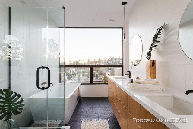 潮流个性现代风格浴室装修效果图