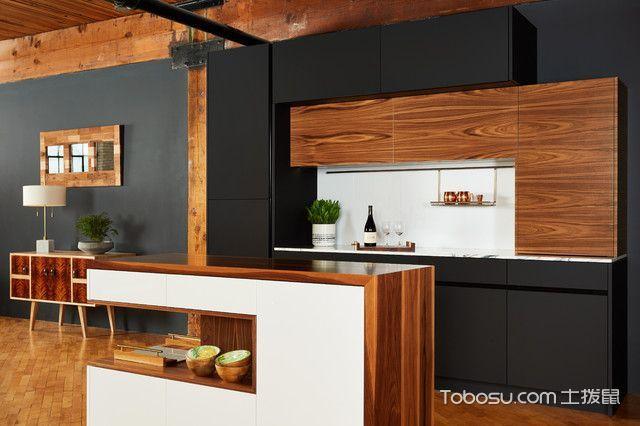 清新雅致现代风格厨房装修效果图