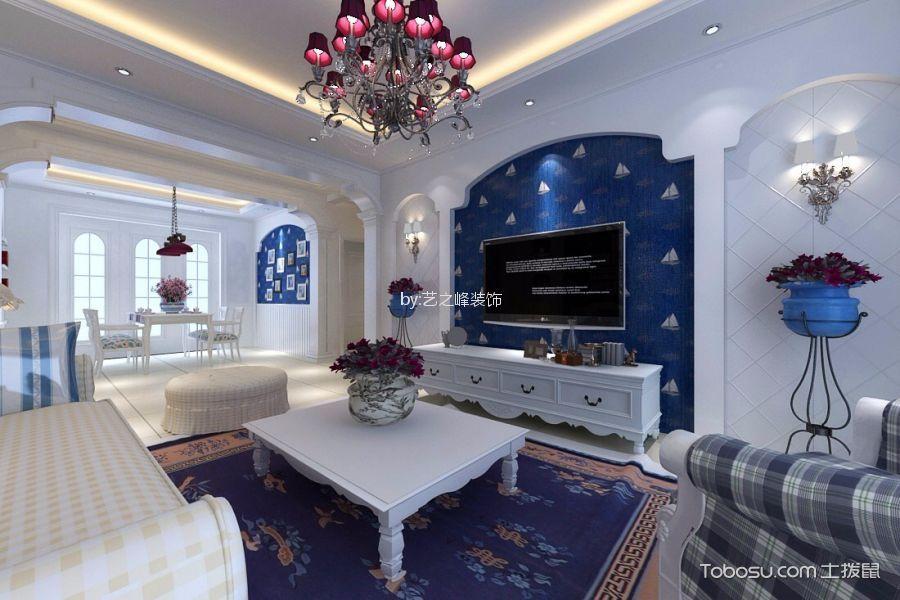 澜泊湾138平米地中海风格三居室装修效果图