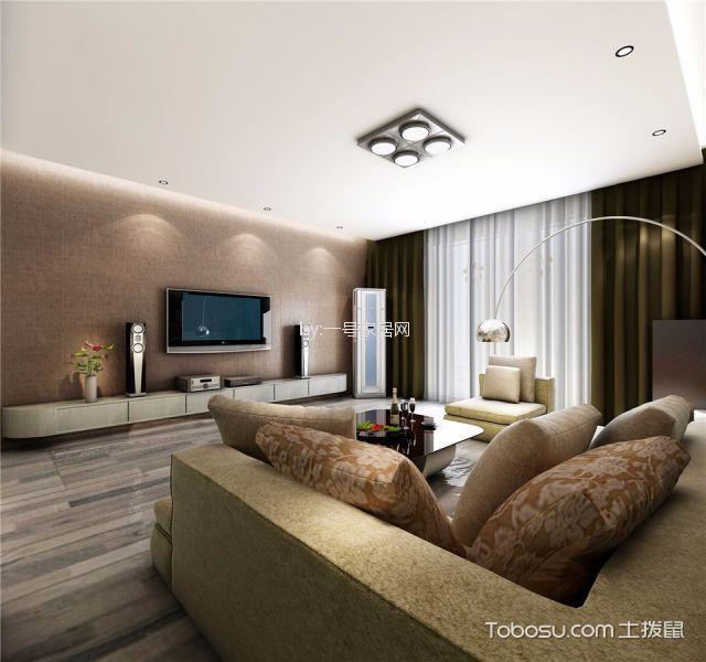 郑州故里新家园120平米简约风格效果图