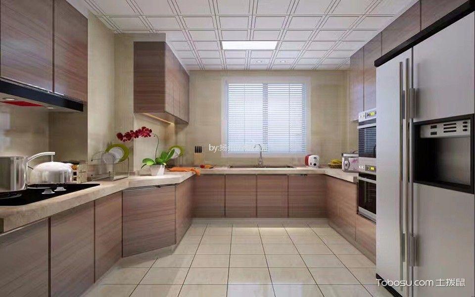 厨房 橱柜_星汇名邸96m²现代简约二居室装修效果图