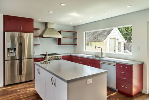 厨房白色背景墙现代风格效果图