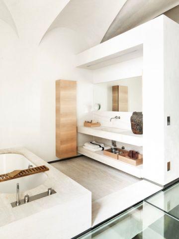 清新雅致現代風格浴室裝修效果圖
