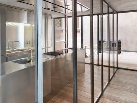 厨房推拉门现代风格装潢效果图