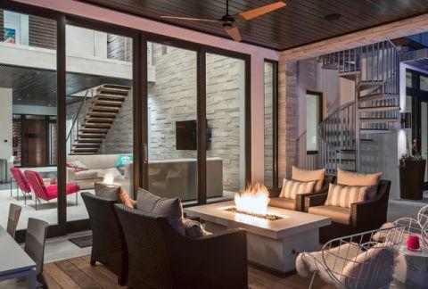 阳台细节现代风格装饰设计图片