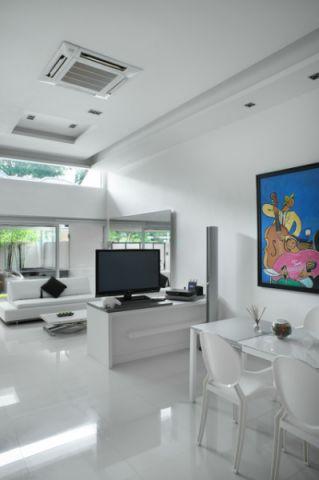 客厅门厅现代风格装饰设计图片