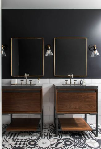 充满活力现代风格浴室装修效果图