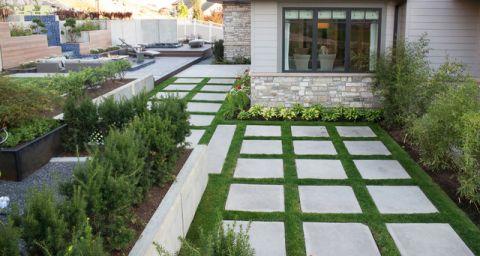 文艺现代风格花园装修效果图