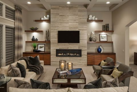 浪漫迷人现代风格客厅装修效果图