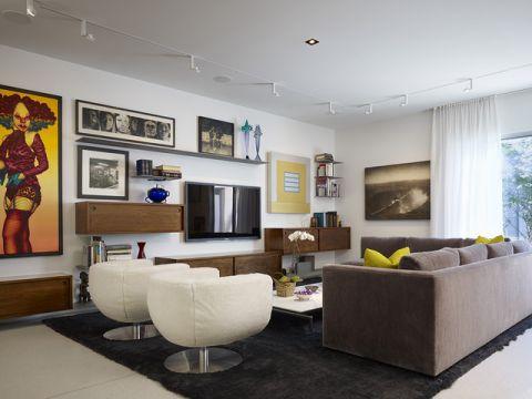干净舒适现代风格客厅装修效果图