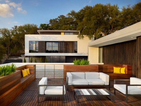 阳台泳池现代风格效果图