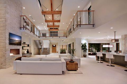 大气沉稳现代风格客厅装修效果图