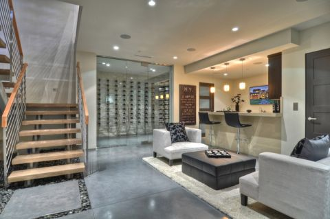 客厅地下室现代风格装饰设计图片