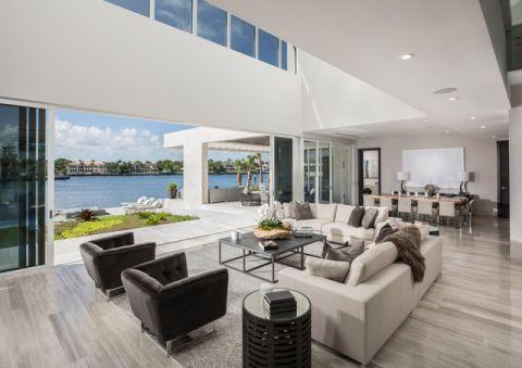 休闲质感现代风格客厅装修效果图